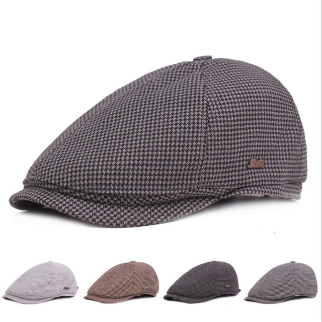 New Classic Berets Hats For Men Women Autumn Winter Plaid Retro Hat Gorras  Planas Boinas Beret Flat Caps Casquette Ajustable 5ab9921745
