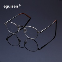 -121 Doğrudan üreticileri saf titanyum çerçeve gözlük miyopi gözlük çerçeve bellek çerçeve serin bükme deformasyon 0050