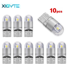 10X Car Styling T10 W5W 2 SMD 3030 LED Auto Lamps 168 501 WY5W 2SMD Parking Fog Bulb Plate Light Univera Cars Signal