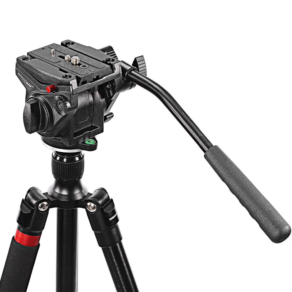 Neewer Video Camera Fluid Drag Head with Sliding Plate for DSLR Cameras Camcorder Monopod Tripods with 3/8 Screw Mount 4kg Load
