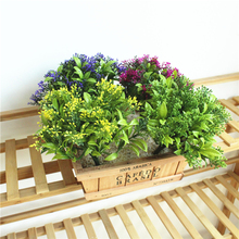 1 Pc Fake Plants Simulation Green Plant Milan Grass Plastic Artificial Plants Garden Wall Landscape Home Decoration Accessories 1 pc simulation plant artificial silk leaves turtle leaf diy wall accessories home garden decoration