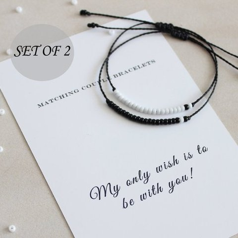 G.YCX Custom Name Braided Miyuki Couple Bracelet For Women Men His and Her Morse Code Bracelets Sister Brother BFF Gift Karachi