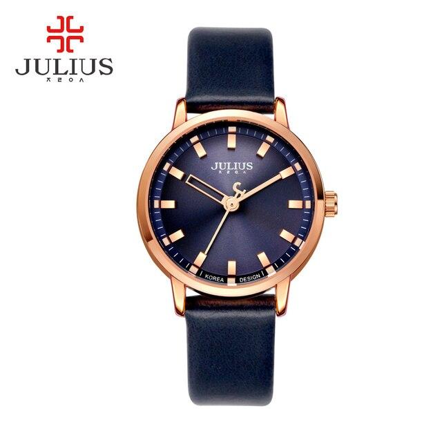 2c1fe90186d3 Julius Marca Camuflaje Impermeable Señoras Del Reloj de Cuarzo de Las Mujeres  Relojes Pulsera de Cuero