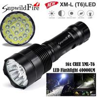 2017 NEW SupwildFire 40000Lm 16x CREE XML T6 LED 5Mode LED Flashlight Torch Light Lamp A10