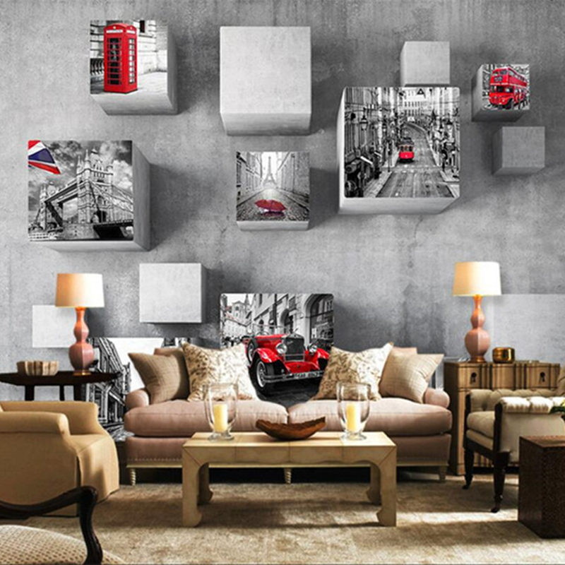 European Style 3D Wallpaper Vintage City Scene Photo Wallpapers For Living Room Sofa Backdrop Wall Papers Home Decor Wall Mural custom mural wallpaper european style 3d stereoscopic new york city bedroom living room tv backdrop photo wallpaper home decor