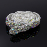 19cb74e93b Aliexpress.com : Buy 1 Yard Stunning Clear Glass Rhinestone Trim ...