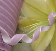 """10Y 3/8 """" Velet arte de la cinta / de la boda / fiesta púrpura R0006"""