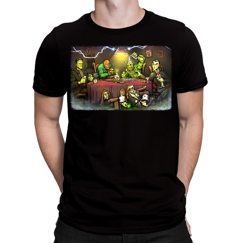 Authentic GET DOWN ART INC Big Chris Monsters Playing Poker T-Shirt S-3XL NEW Casual T-Shirt Male Short Sleeve Pattern