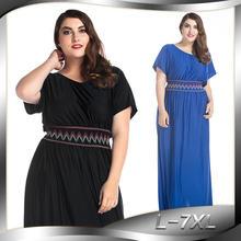 fa9dc7385f6c Più il Formato L-7XL 2019 partito di classe di Colore Solido del vestito  Sexy