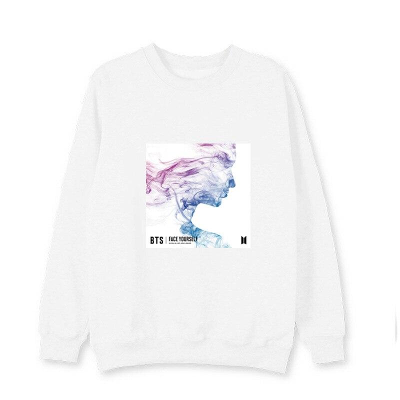 New kpop BTS Bangtan Boys FACE YOURSELF album with the same paragraph Korean round neck sweatshirt pullover Harajuku sweatshirt