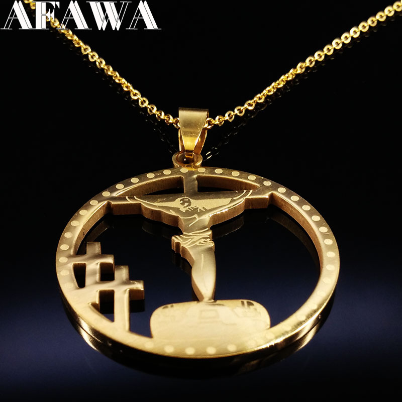 Hip Hop Gold Color Stainless Steel Chain Long necklace HipHop <font><b>Jesus</b></font> Necklaces Men Women Big Cross <font><b>Jesus</b></font> Piece Jewelry