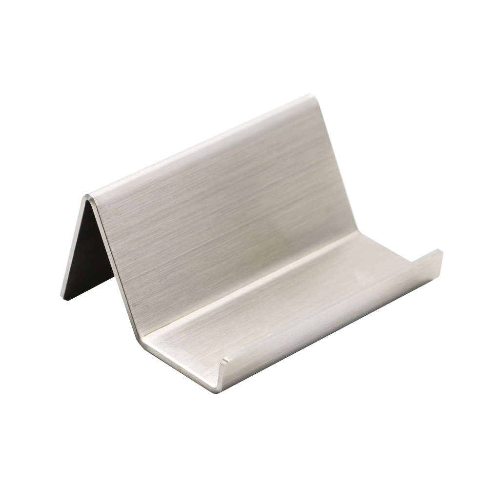 Us 11 87 5 Off Modern Stainless Steel Business Card Holder Name Holders Note Display Stand Satin Finish Luxury Desktop Case In