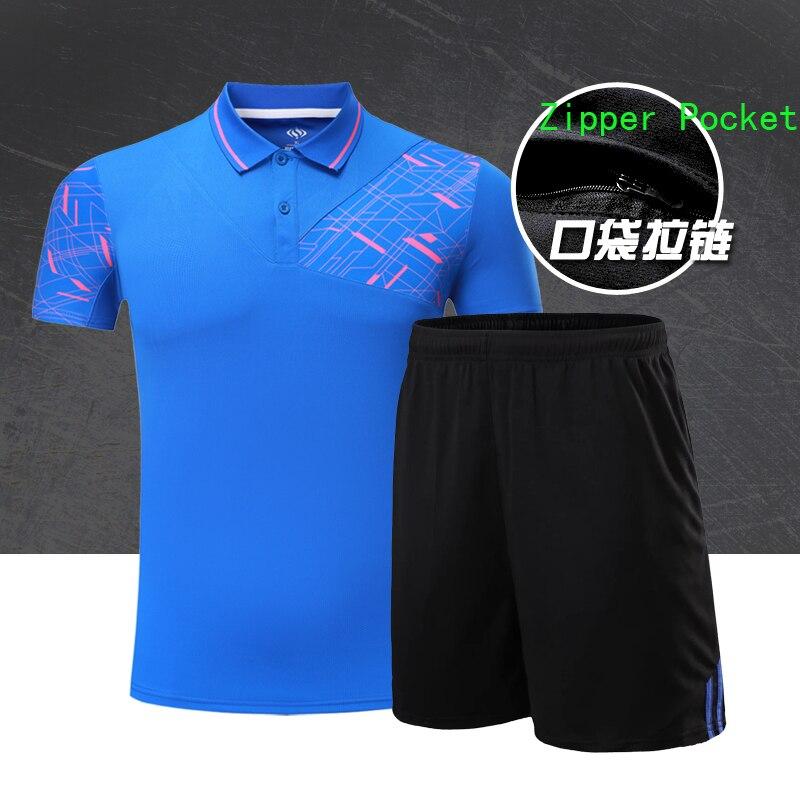 Бадминтон рубашка мужской/женский, настольный теннис, Теннис футболка, дышащий отложным воротником спорт пинг-понг Джерси Униформа