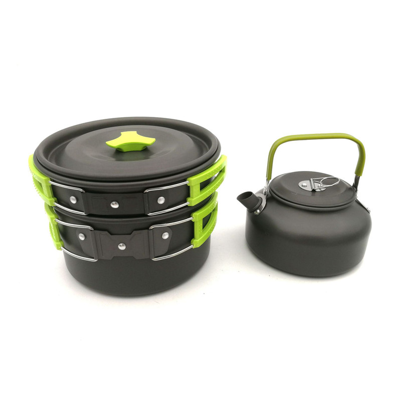 1.23L Pot Bowl Ultralight Portable Outdoor Camping Cooking Picnic With 0.62L Lid