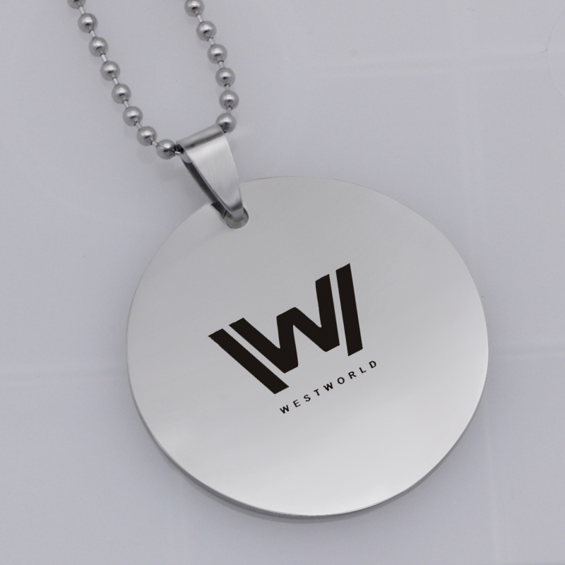 Ufine FPS game pendant fortnite west world pendant stainless steel jewelry necklace Customed words or name necklace N471