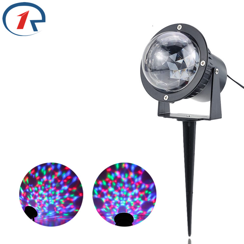 ZjRight Red Green Blue LED stage light Outdoor Garden Waterproof birthday party effect Light Colorful Projector bar disco lights сумка golla garden s g277 blue
