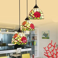 luxury European Tiffany glass garden rose personalized Art Chandelier