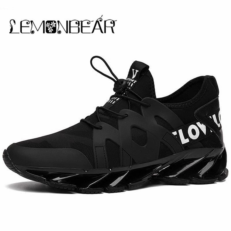 Hot 2018 chaussures de loisir à la mode pour hommes respirant printemps lame Camping chaussures hommes baskets rebond automne plein air chaussures plates