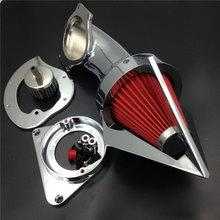 купить For 1995&up Kawasaki Vulcan 800 VN800 classic Motorcycle Air Cleaner Kit Intake Filter Chrome 1995 1996 1997 1998 1999 по цене 5991.42 рублей