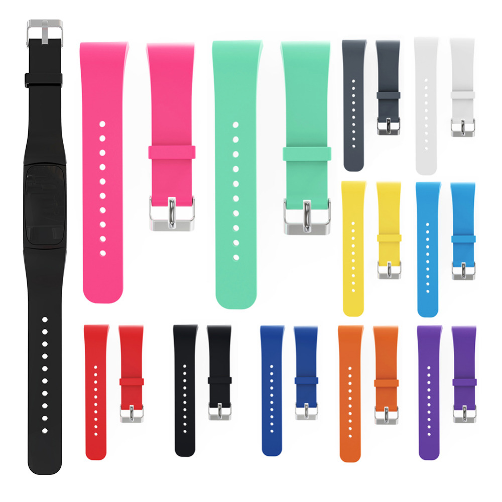 Candy Colors Silicone WatchBands Replacement Band 18cm Watch Strap for Samsung Gear Fit 2 SM-R360 Watch luxury silicone watch replacement band strap for samsung gear fit 2 sm r360 wristband 100