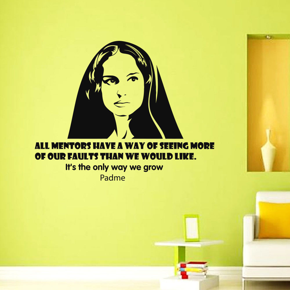 Vinyl Wall Decals Padme Star Wars Quote Decal Sayings Stickers Home Decor
