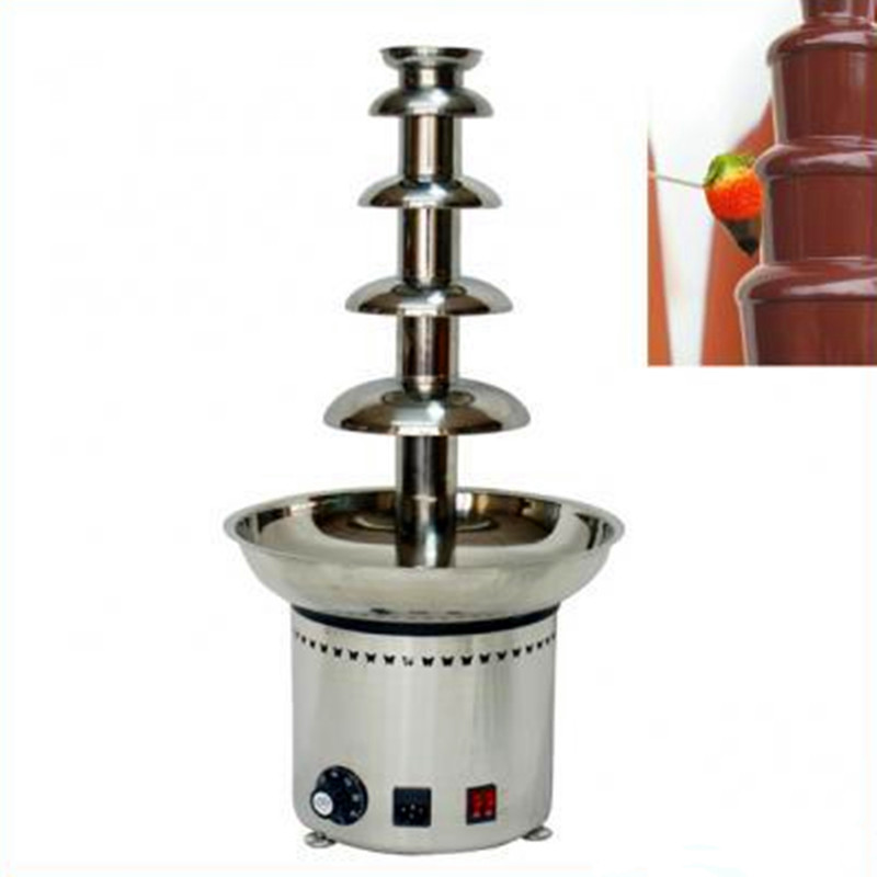 Mini electric chocolate fountain machine 5 tiers ZF freeshipping homehold china factory supply mini 3 tiers chocolate fountain machine with high quality and low prices