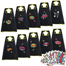 10 Packs SPECIAL Child Black Capes Stickers Fancy Dress Cosplay Cartoon Birthday Kids Halloween Costumes For Girls Gifts