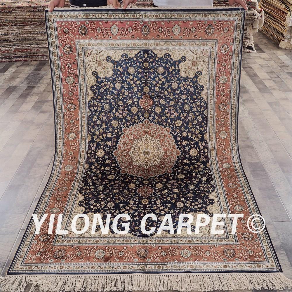 Yilong 4 X6 Tabriz Silk Carpet Vantage