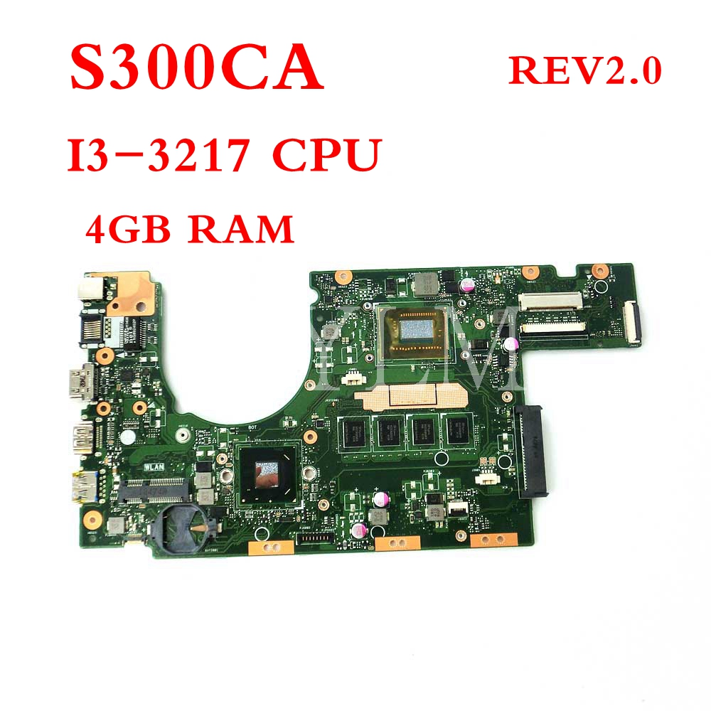 S300CA with I3-3217CPU 4GB memory REV2.0 mainboard For ASUS S300 S300C S300CA laptop motherboardS300CA with I3-3217CPU 4GB memory REV2.0 mainboard For ASUS S300 S300C S300CA laptop motherboard