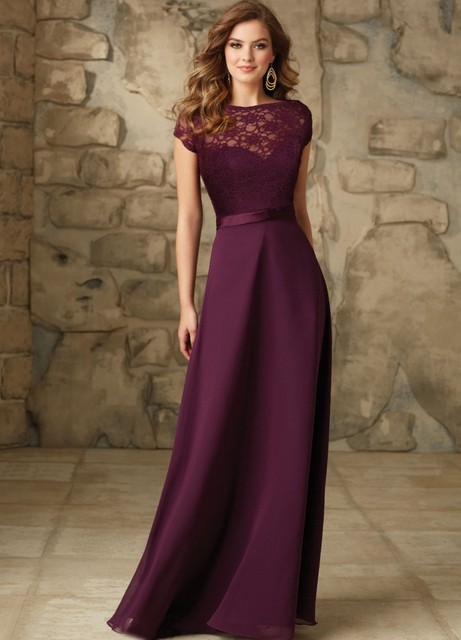 2ee52e5b1ca Lace high-necked evening dress prom dresses wine red chiffon halter style  plain belt