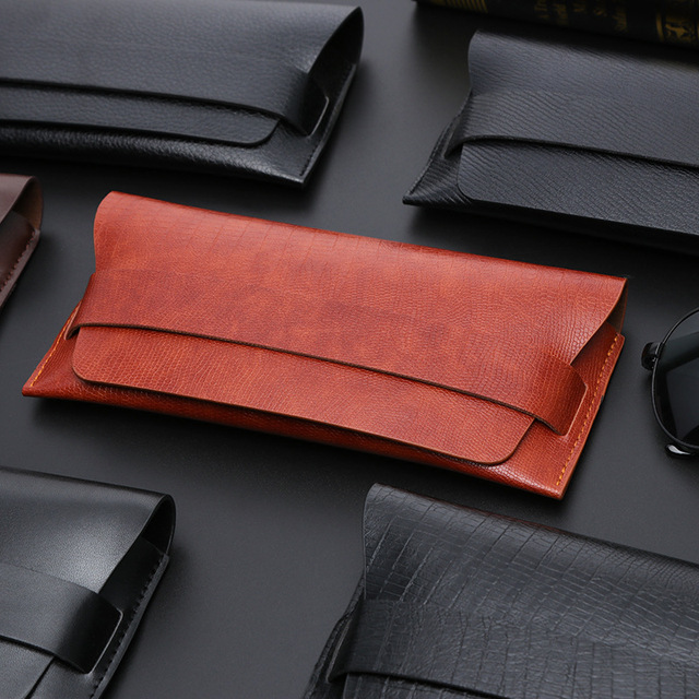 31601a81a9f Fashion Sunglasses Box Women Men Eyeglasses Case Faux Leather Vintage Sun  Glasses Cases Male Eyewear Holders Accessories YJ882