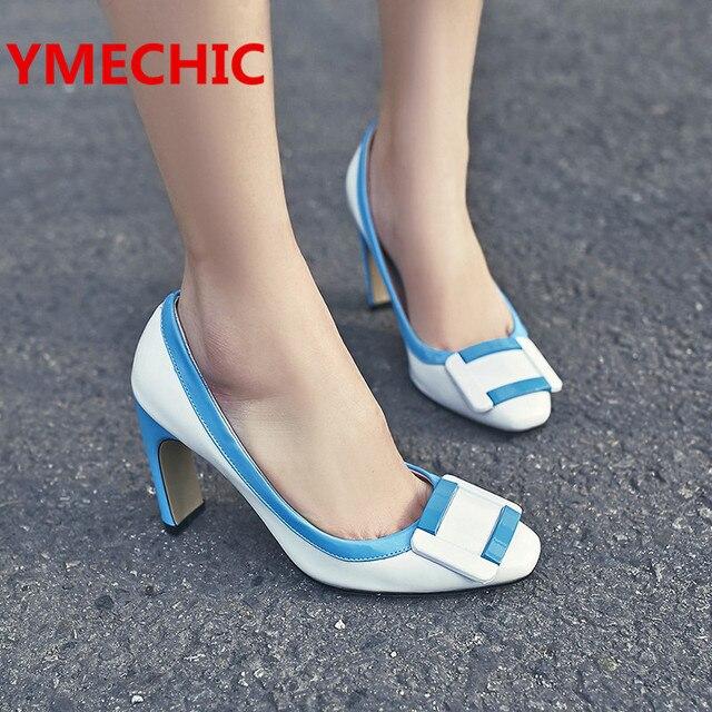 Chaussures Bleu Occasionnels Avec Talon Bloc Avslappnad bHsZI9FYm