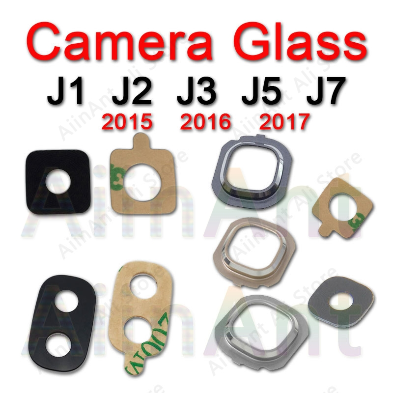 For Samsung Galaxy J3 J5 J7 2015 2016 2017 J320 J530 J730 Rear Back Camera Glass Lens Cover Ring With Sticker image