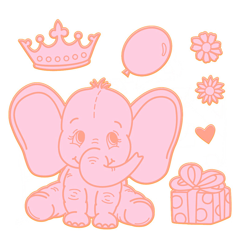 YaMinSanNiO Elephant Metal Dies Metal Cutting Dies Scrapbookg 2019 New Dies DIY Album Card Making Decor Paper Animal Crafts in Cutting Dies from Home Garden