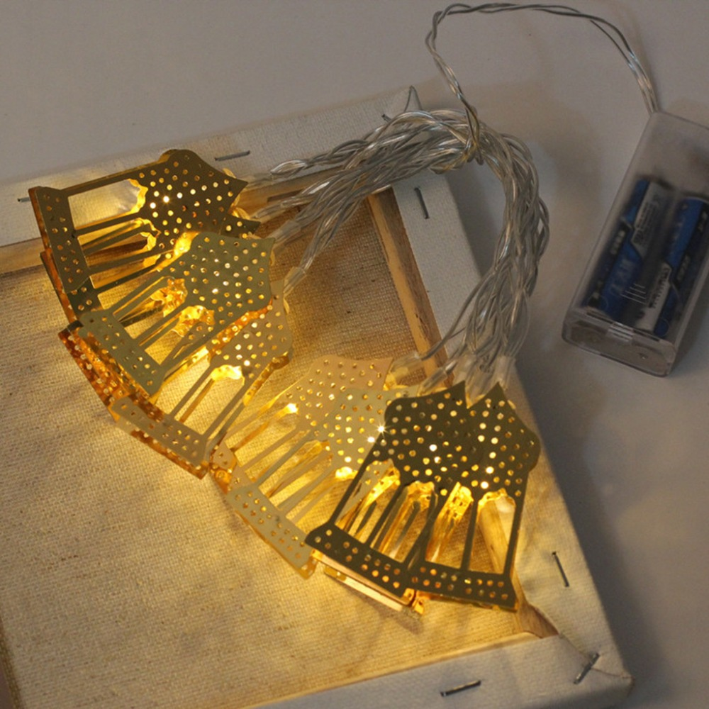 Star Moon LED String Light Ramadan Decoration For Home EID Mubarak Wedding Birthday Party Decor Supply Christmas 5L