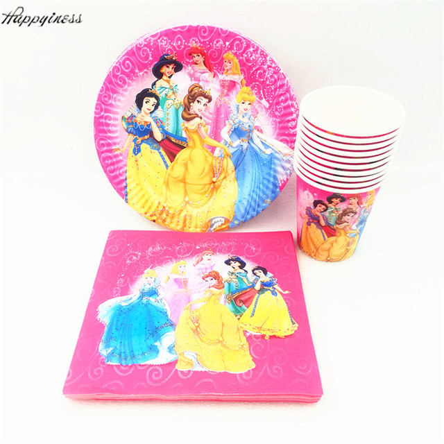 40pcs/lot Cartoon Princess Paper Plates+Cups+Napkins Disposable Cutlery Set festival Decorative  sc 1 st  AliExpress.com : disposable cutlery and plates - pezcame.com