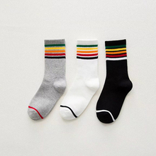 Rainbow Ethnic Women's Unisex Soft Wool Socks.Casual Compression Striped Thick Thread Short Socks Couple Ankle Sock Sox Hosiery