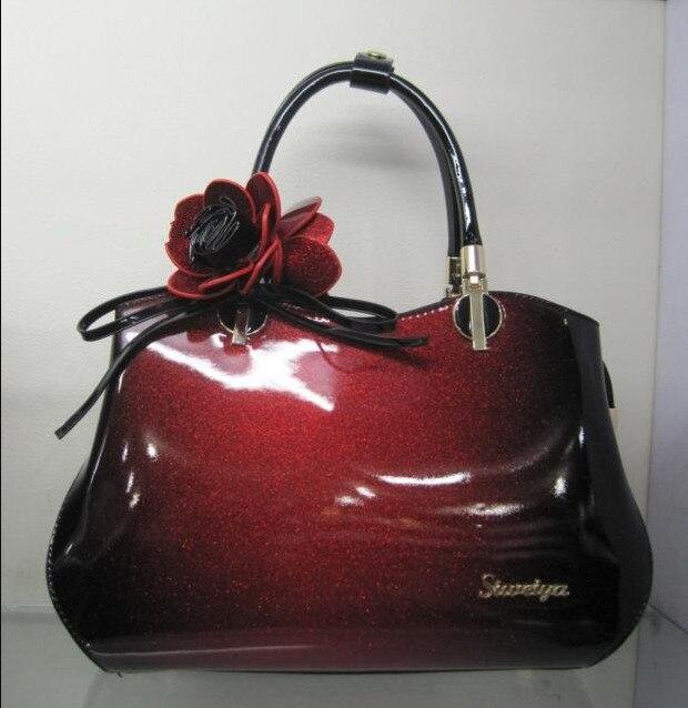 ICEV new luxury handbag women leather handbags over shoulder patent leather messenger bag famous designer clutches bolsos mujer