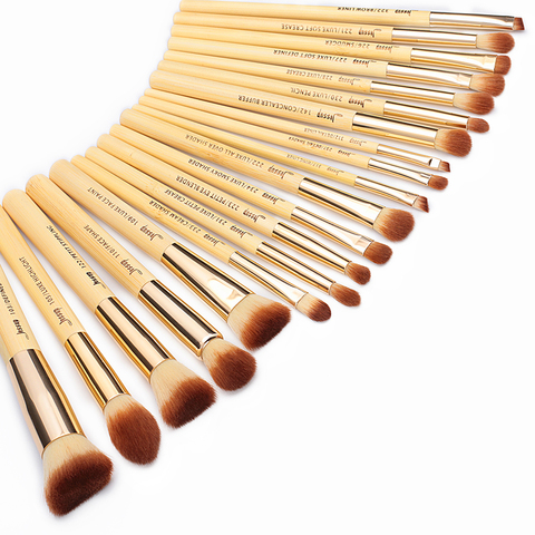 Jessup Brand 20pcs Beauty Bamboo Professional Makeup Brushes Set Beauty tool Make up Brush T145 & Cosmetics Bags Women Bag CB002 Multan