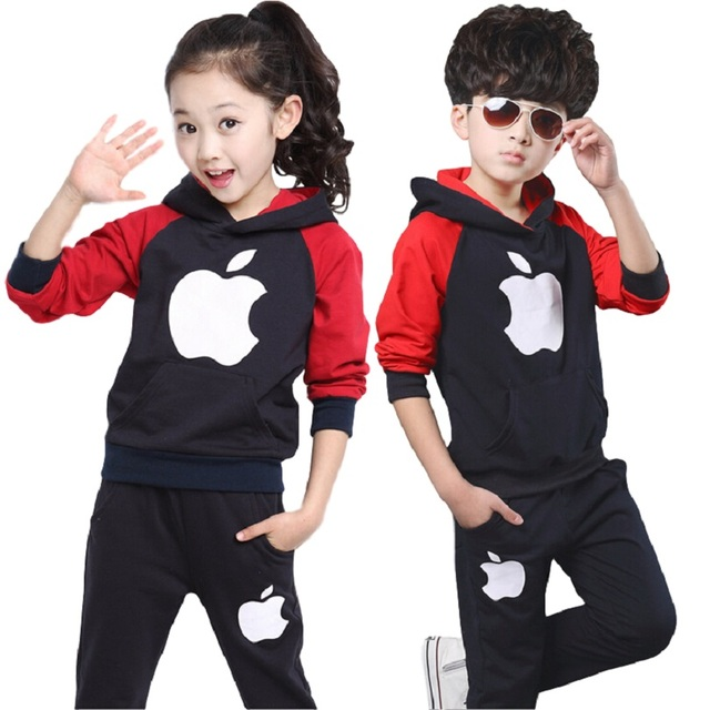 New Boys Girls Sport Suit Children Clothing Set kids boys girls tracksuit roupas infantis For Children Spring And Autumn Period