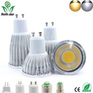 Image 1 - Super Bright GU10 Bulbs Light Dimmable Led Warm/White 85 265V 7W 10W 15W LED GU10 COB LED lamp light GU 10 led Spotlight