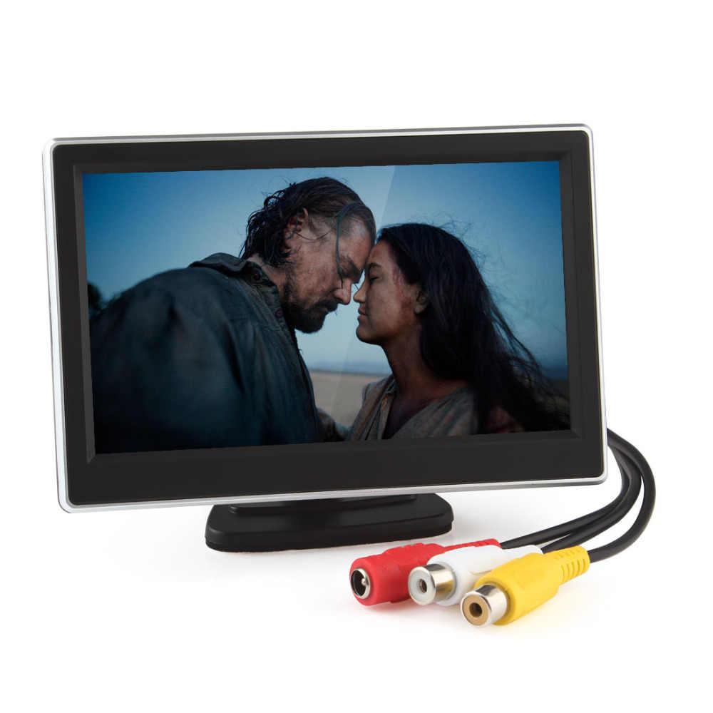 5 дюймов 480x272 пикселей TFT lcd Цифровая панель цветной автомобильный монитор заднего вида с 2 видео вход и камера заднего вида