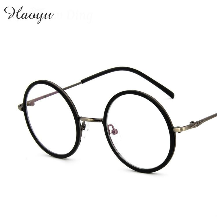 Haoyu hombres grandes del ojo óptico monturas de gafas redondas ...
