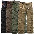 2017 Moda Militar Carga Calças Homens Soltos Baggy Calças Táticas Oustdoor Casual Algodão Carga Calças Dos Homens Multi-bolsos 28-46