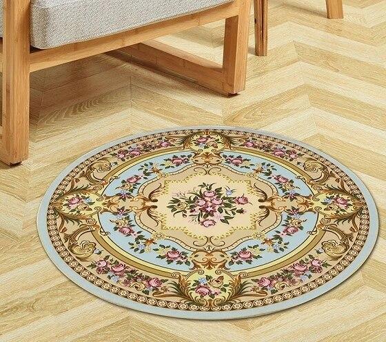 tapis de sol antiderapant rond salle de bain yoga chambre a coucher salon jeu circulaire chaise d ordinateur panier suspendu nouveau