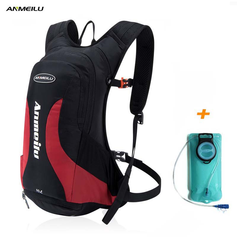 ANMEILU 10L Water Bag Cycling Backpack Men Women Camping Climbing With Rainproof Cover Bike Bladder Hydration Camelback Rucksack anmeilu bicycle bags rainproof cover hiking climbing shoulders bag 25l waterproof rucksack cycling backpack bike accessories