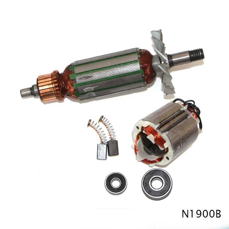 Drive Shaft Electric Planer Armature Rotor,anchor Stator Bearing Carbon Brush Parts For Makita N1900B 1900B , High-quality!