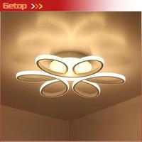 Simple Creative Circular Ceiling Light White Branch Acrylic Novelty Lighting With LED Bulbs Bedroom Restaurant Lighting