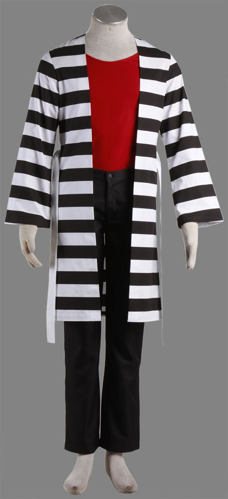 Lucky Dog1 Cosplay Costume Giulio Jail Suit Any Size