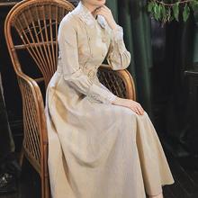 Высокое качество Осень Зима Новое поступление Цветочная вышивка Питер Пэн воротник клетчатое женское длинное платье с поясом